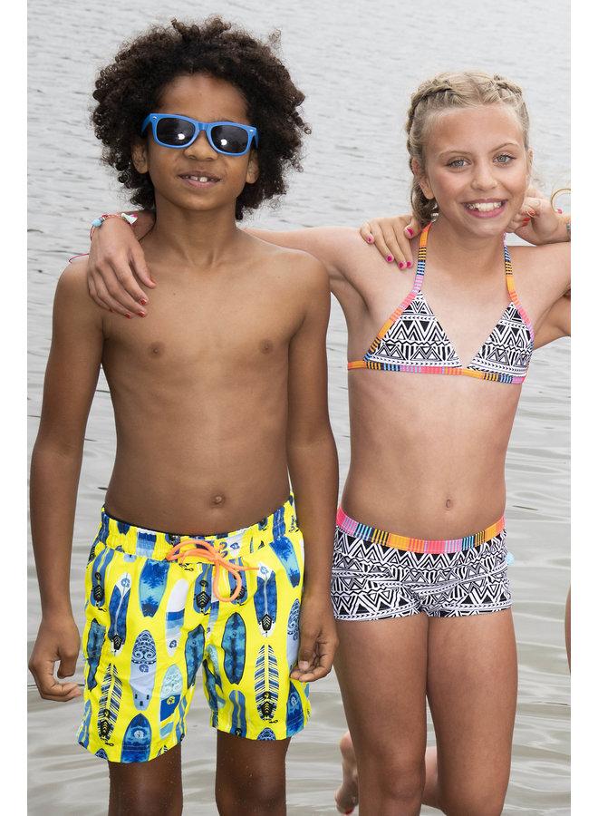 Boys long swimshort with ao - Surfboard ao