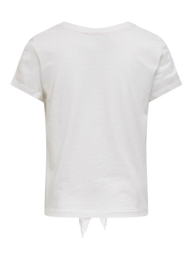 KONLUCY S/S REG KNOT WILD TOP CS JRS - Bright White