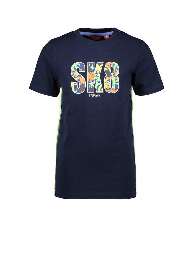 T&V T-shirt SK8 - navy
