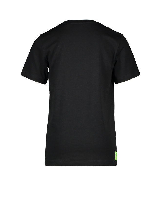 T&V T-shirt CROCODILE - black