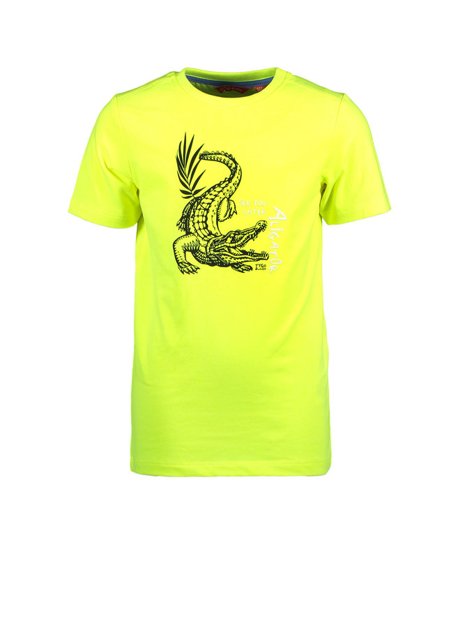 T&V neon T-shirt CROCODILE - safety yellow
