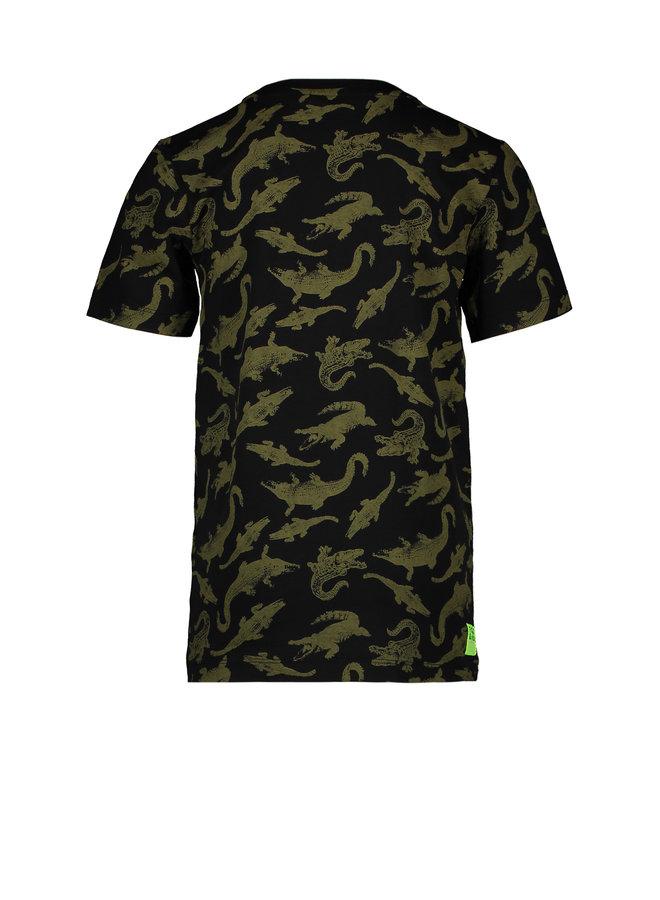 T&V T-shirt AO CRODODILE - black