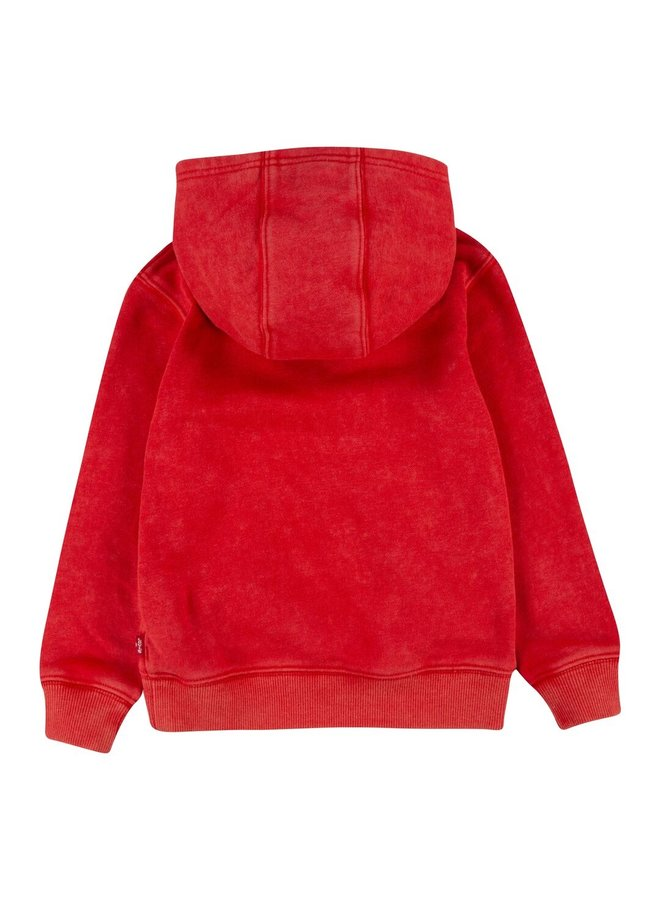 PULL-OVER HOODY - SUPER RED
