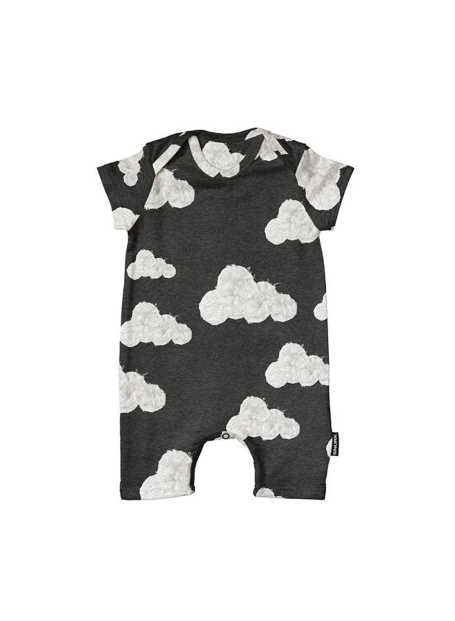 Cloud 9 Grey Black Playsuit Babies