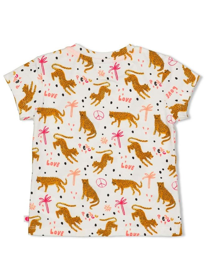 T-shirt AOP - Whoopsie Daisy - Offwhite