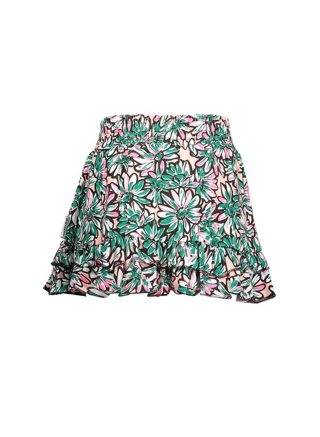 Girls sunny flower skirt with 2 ruffles on hem - Sunny ao