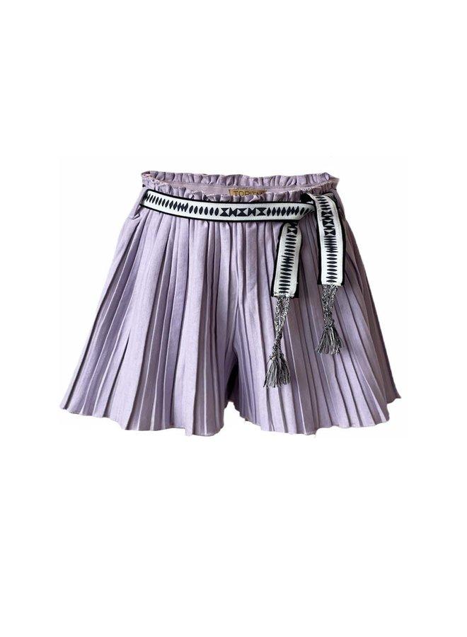 Puck plisee short - Lilac