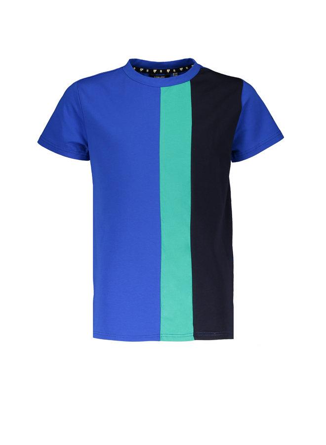 Kuro short sleeves T-shirt side print - Nautical Blue