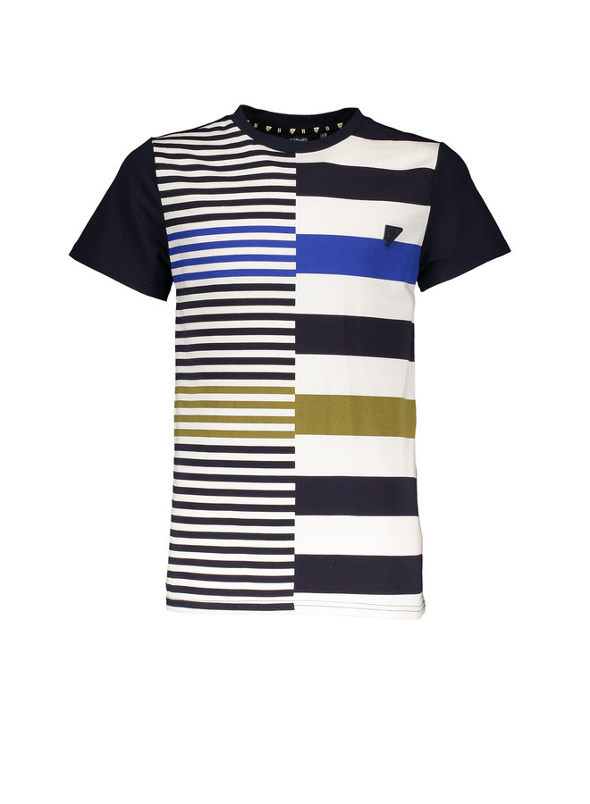 Kore short sleeves T-shirt panel print - Navy Blazer