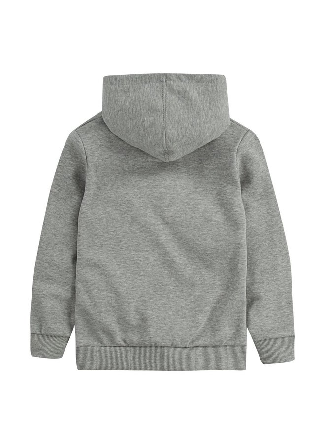 PULL-OVER HOODY - GREY HEATHER