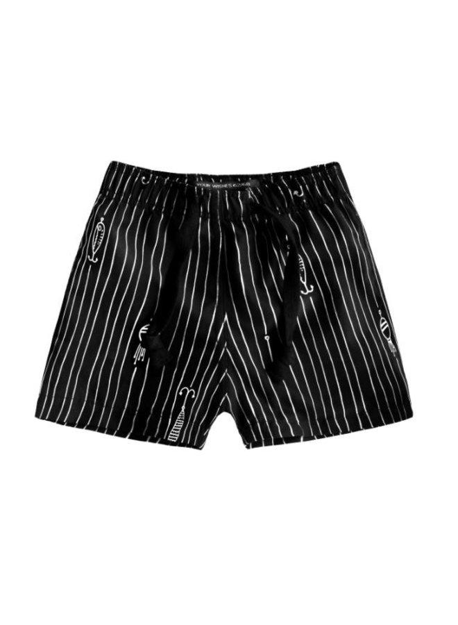 Fish Bait   Swim Shorts - Black