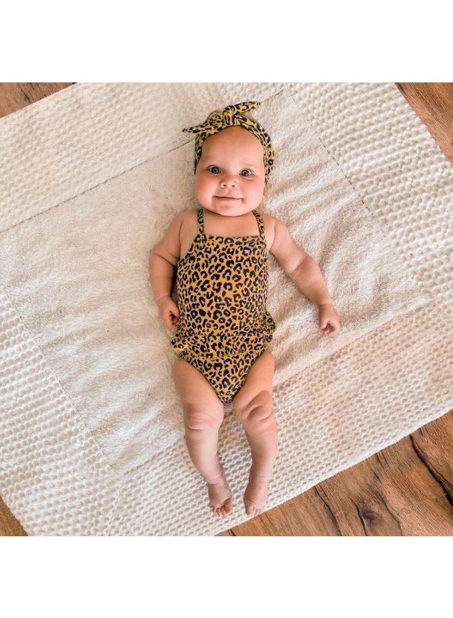Leopard | Swimsuit - Ochre