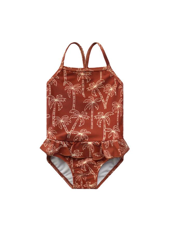 Palmtrees | Swimsuit - Dark Rust