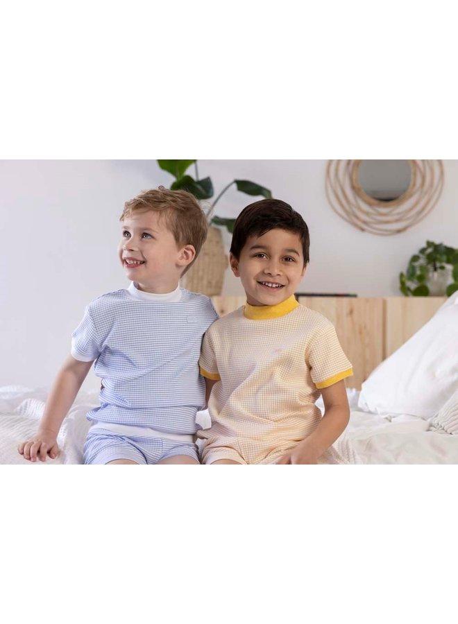 Pyjama kort wafel - Blue