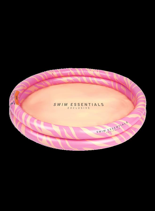 Kinder zwembad 100 cm - Roze Zebra