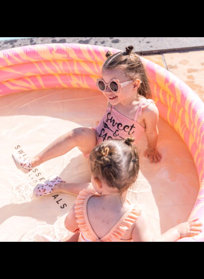 Rond zwembad 150 cm - Roze Zebra