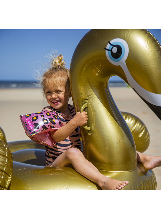 Zwembandjes 2-6 jaar  - Panterprint Rose goud