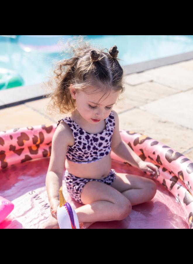 Kinder zwembad 100 cm - Panterprint Rose goud