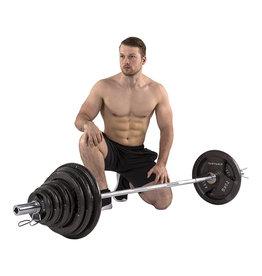 Tunturi 140Kg Olympic Tri-Grip Barbell Set