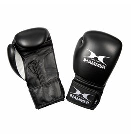 Hammer Boxing Hammer Boxing Bokshandschoenen PREMIUM FITNESS - buffelleer - zwart - 8 oz