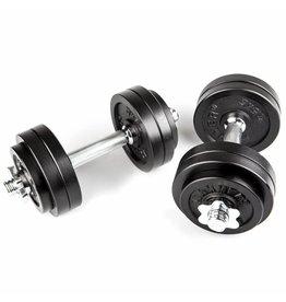 Hammer Fitness Dumbbell Set Zwart 30kg (2x 15kg)