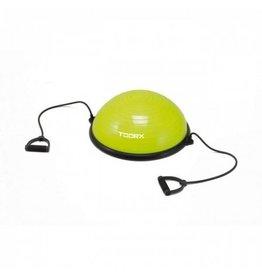 Toorx Fitness Balanstrainer  - Ø 58 cm - Lime Groen - met Resistance Tubes - incl pomp