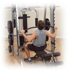 Body-Solid Body-Solid Lat Attachment voor GS348 Series 7 Smith Machine GLA348