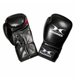 Hammer Boxing Hammer Boxing Bokshandschoenen X-SHOCK - PU - Zwart/Rood - 10 oz