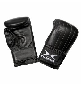 Hammer Boxing Hammer Boxing Zakhandschoenen Punch - Leer - Voorgevormd - Zwart - L/XL