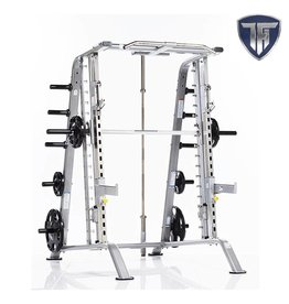 Tuff Stuff CSM-600 Basic Smith Machine/Half Cage Combo met Safety Stoppers