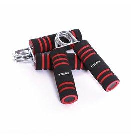 Toorx Fitness Foam Handknijpers - 2 stuks - Zwart/Rood