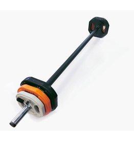 Toorx Fitness Bodypumpset - 20 kg - zwart/oranje/grijs