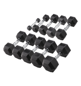 Body-Solid Hexa Rubber Dumbbell Set 27.5 - 35 kg