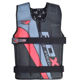 RDX Sports Gewichtsvest - Zwart / Rood - Verstelbaar van 10 tot 18 kg