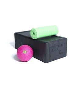 Blackroll Block Set Zwart, Groen, Roze