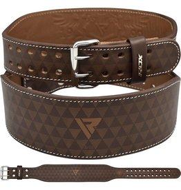 RDX Sports RDX ARLO 4 Inch Medium Tan Leather Weightlifting Belt