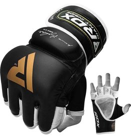 RDX Sports RDX T2 Leather MMA Handschoenen - Goud / Zwart - Leer