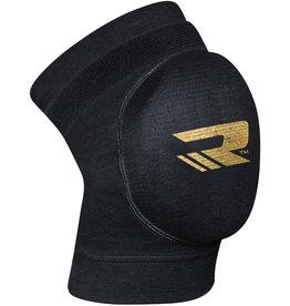 RDX Sports K1 Kniebeschermers - Gelbescherming Zwart