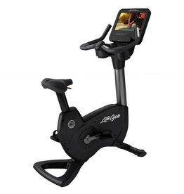 Life Fitness Life Fitness Platinum Club Series Lifecycle upright bike met Discover SE3HD Consolein Titanium Storm