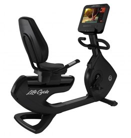 Life Fitness Platinum Club Series Lifecycle recumbent bike met Discover SE3HD Console in Black Onyx