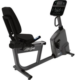 Life Fitness RS1 Lifecycle recumbent bike met Track Connect Console