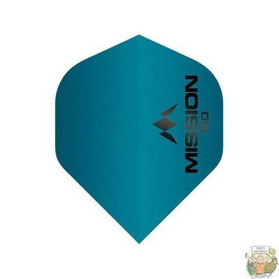 Mission Mission Logo 150 Blue Std. 150 micron