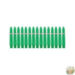 Bull's 5-Pack NYLON shaft X-Short + Ring - Green
