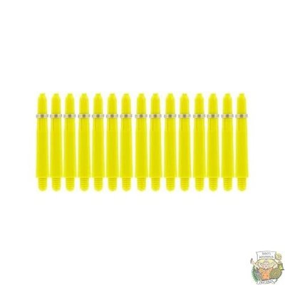 Bull's 5-Pack NYLON shaft Short + Ring - Yellow