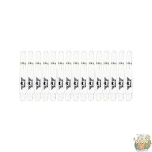 Bull's 5-Pack NYLON shaft Short + Ring - White