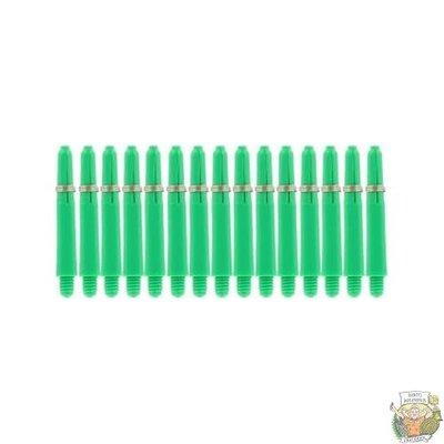 Bull's 5-Pack NYLON shaft Short + Ring - Green