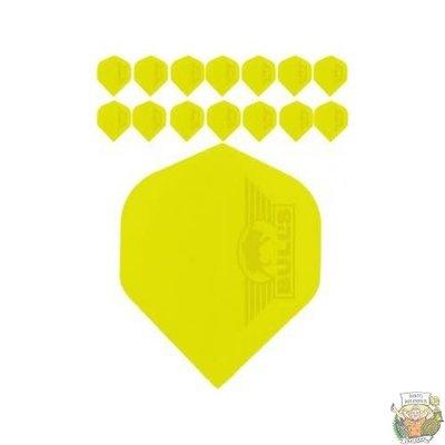 "Bull's 5-Pack POLYNA Plain Standaard Flight ""Yellow"""