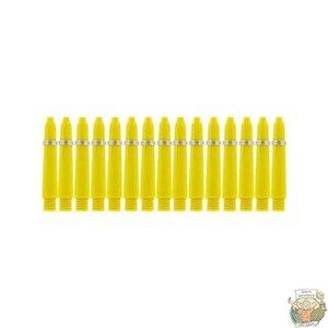 Bull's 5-Pack NYLON shaft X-Short + Ring - Yellow