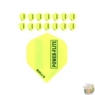 """Bull's 5-Pack POWERFLITE Solid """"Yellow"""""""