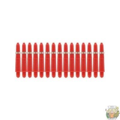 Bull's 5-Pack NYLON shaft X-Short + Ring - Red